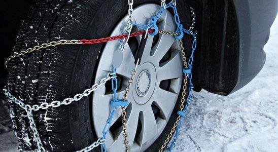 zimní řetězy na kole