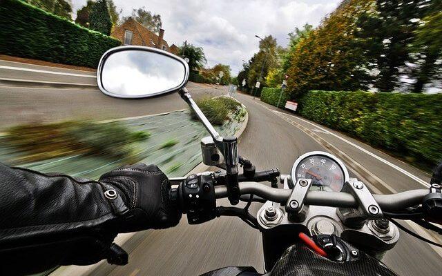 Jízda na motorce